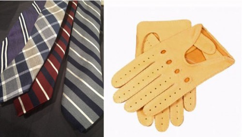 Breuer neckwear and Dents driving gloves