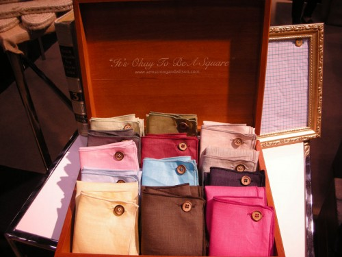 Armstrong and Wilson pocket squares