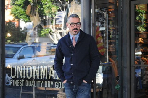 Unionmade's Todd Barket in front of the San Francisco store