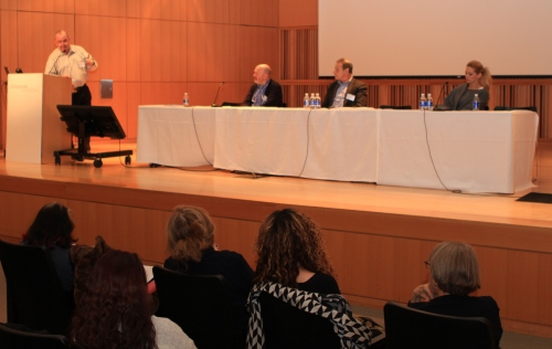 Moderator Arnold Karr, Adriano Goldschmied, Andrew and  Rebecca Duval.